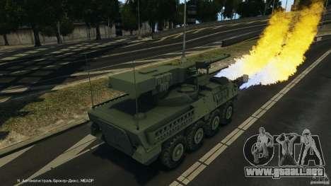 Stryker M1128 Mobile Gun System v1.0 para GTA 4 vista desde abajo