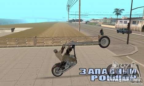 Desperado Chopper para GTA San Andreas vista hacia atrás