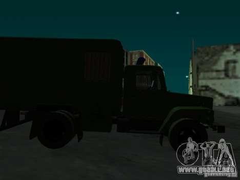 GAZ 3309 patrullero para visión interna GTA San Andreas
