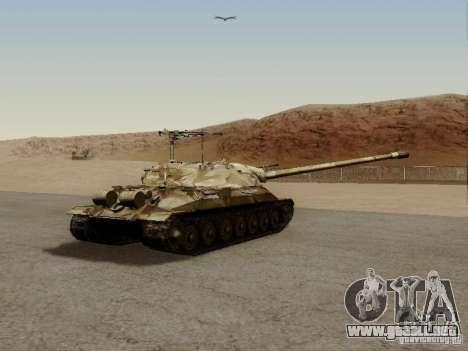 El es-7 para GTA San Andreas vista posterior izquierda