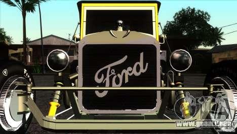 Ford T 1927 Hot Rod para visión interna GTA San Andreas