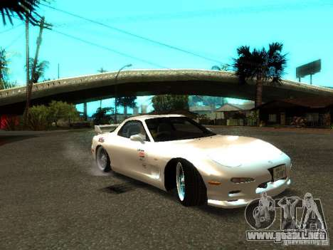 Mazda RX-7 TypeR para GTA San Andreas vista posterior izquierda