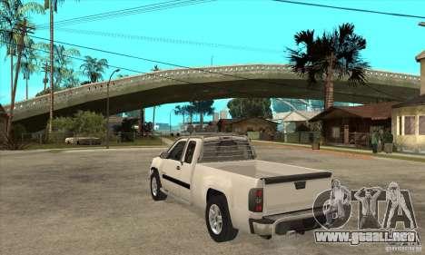 GMC Sierra para GTA San Andreas vista posterior izquierda