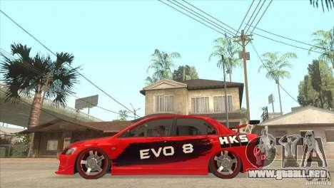 Mitsubishi Evo 8 Tuned para GTA San Andreas left