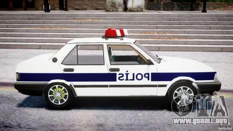 Tofas Sahin Turkish Police v1.0 para GTA 4 vista hacia atrás