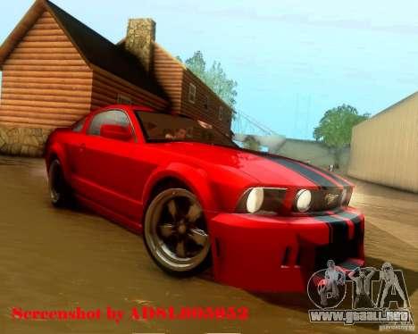 Ford Mustang GT 2005 Tunable para el motor de GTA San Andreas