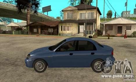 Daewoo Lanos v2 para GTA San Andreas left