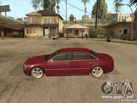 Audi A8 Switze para GTA San Andreas left