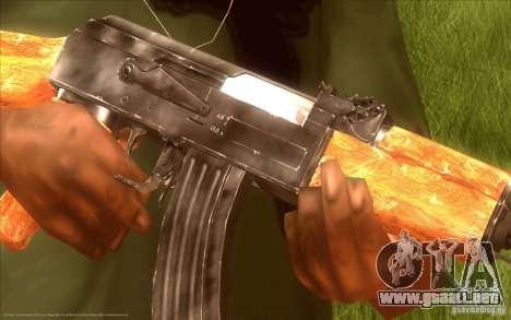 Kalashnikov HD para GTA San Andreas segunda pantalla