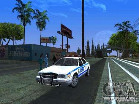 Ford Crown Victoria 2009 New York Police para GTA San Andreas