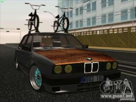 BMW E30 Rat para GTA San Andreas vista posterior izquierda