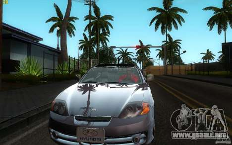 Hyundai Tiburon V6 Coupe 2003 para visión interna GTA San Andreas
