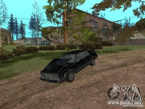 Romano es taxi de GTA 4 para GTA San Andreas vista hacia atrás