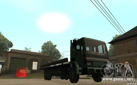 DFT30 Dumper Truck para GTA San Andreas vista hacia atrás