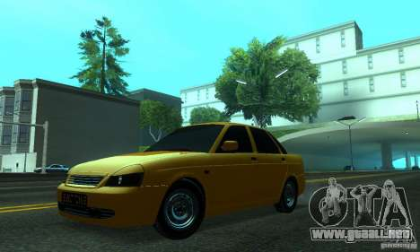 Lada Priora para vista lateral GTA San Andreas