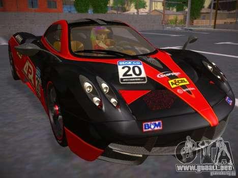 Pagani Huayra para visión interna GTA San Andreas