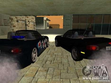 Mazda MX5 Miata para GTA San Andreas vista posterior izquierda