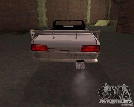 Taxi Cabrio para GTA San Andreas vista posterior izquierda