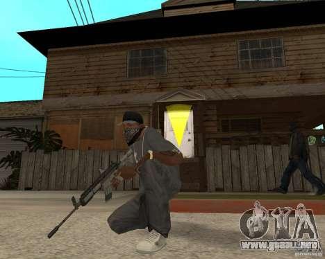 M4A1 con vista kolliminotarnym. para GTA San Andreas tercera pantalla