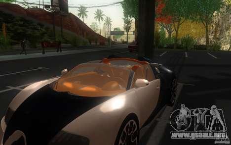 Bugatti Veyron 16.4 Grand Sport Sang Bleu para visión interna GTA San Andreas