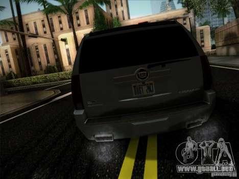 Cadillac Escalade ESV Platinum para GTA San Andreas vista posterior izquierda