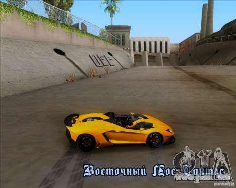 Lamborghini Aventador J TT Black Revel para GTA San Andreas interior