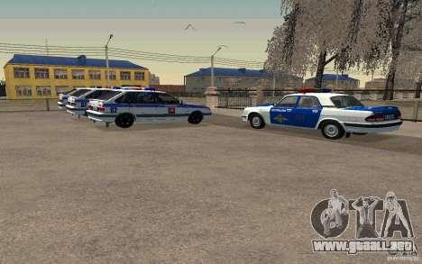 Vaz 2114 PSB policía para GTA San Andreas vista posterior izquierda