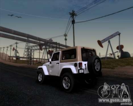 Jeep Wrangler Rubicon para GTA San Andreas left