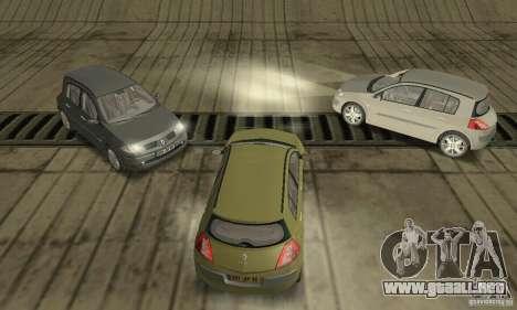 Renault Megane II 2005 para visión interna GTA San Andreas