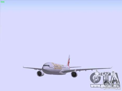Airbus A330-200 Emirates para vista inferior GTA San Andreas