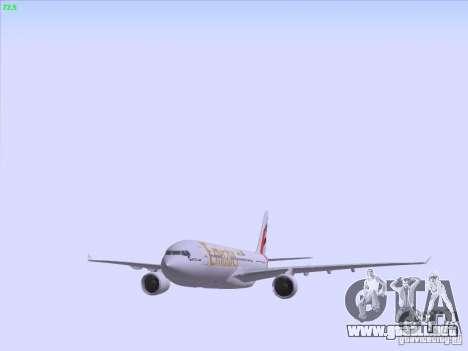 Airbus A330-200 Emirates para vista inferior GTA San Andreas