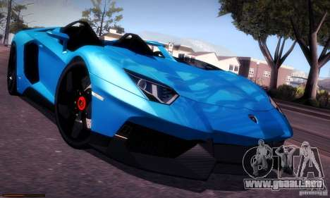 Lamborghini Aventador J para visión interna GTA San Andreas
