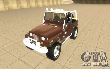 Jeep Wrangler 1986(2) para GTA San Andreas left