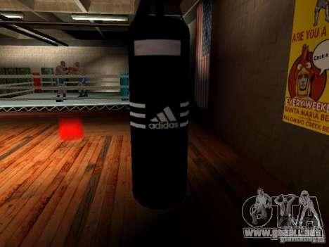 Nuevo saco de boxeo para GTA San Andreas quinta pantalla