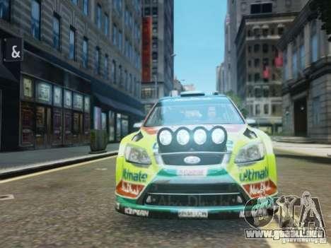 Ford Focus RS WRC para GTA 4 vista hacia atrás