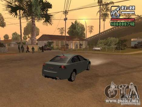 Pontiac G8 GXP para GTA San Andreas vista posterior izquierda