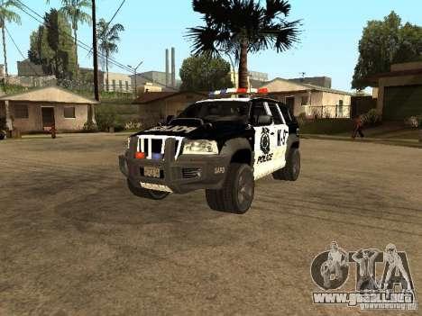 Jeep Grand Cherokee police K-9 para GTA San Andreas