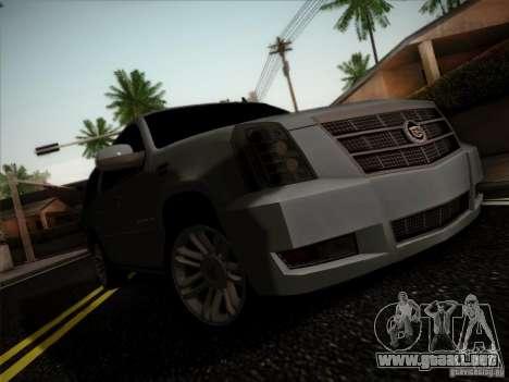 Cadillac Escalade ESV Platinum para GTA San Andreas left
