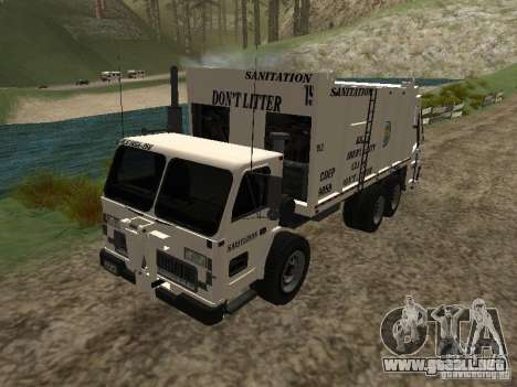 Camión de basura de GTA 4 para GTA San Andreas