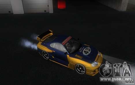 Toyota Supra Chargespeed para visión interna GTA San Andreas