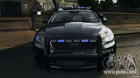 Ford Taurus 2010 Atlanta Police [ELS] para GTA 4 vista desde abajo
