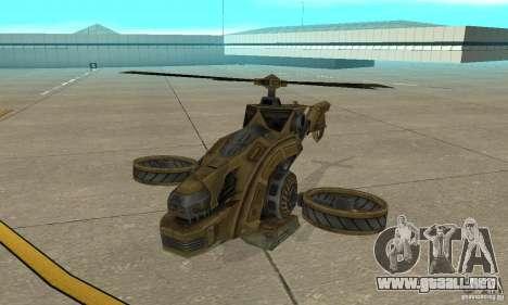 Un helicóptero desde el juego TimeShift Brown para GTA San Andreas left