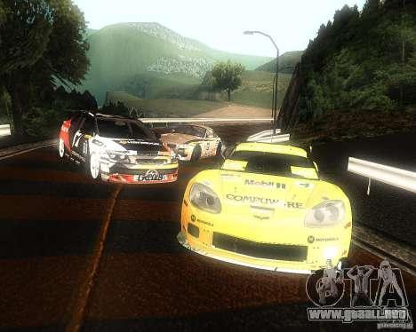 Chevrolet Corvette Drift para visión interna GTA San Andreas