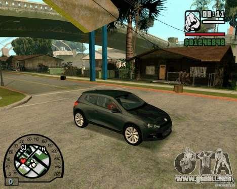 Volswagen Scirocco para GTA San Andreas vista posterior izquierda