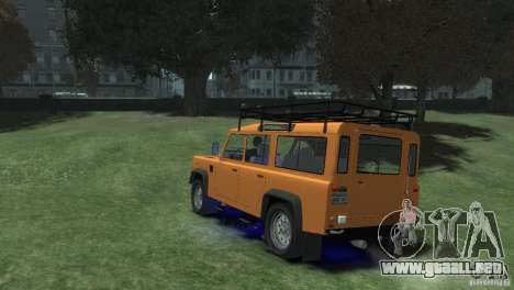 Land Rover Defender Station Wagon 110 para GTA 4 left