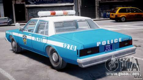 Chevrolet Impala Police 1983 v2.0 para GTA 4 vista superior