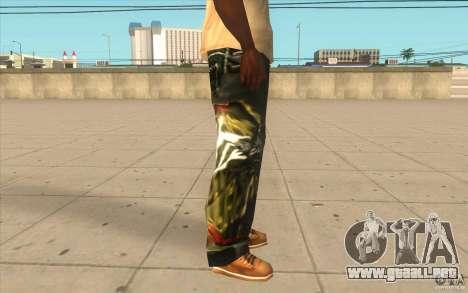 Hip-hop jeans para GTA San Andreas sucesivamente de pantalla