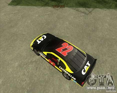 Dodge Nascar Caterpillar para la visión correcta GTA San Andreas