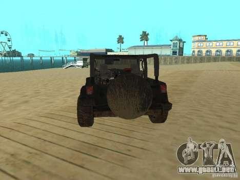 Jeep Wrangler SE para GTA San Andreas vista posterior izquierda