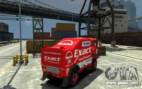 MAN TGA Rally Truck para GTA 4 visión correcta